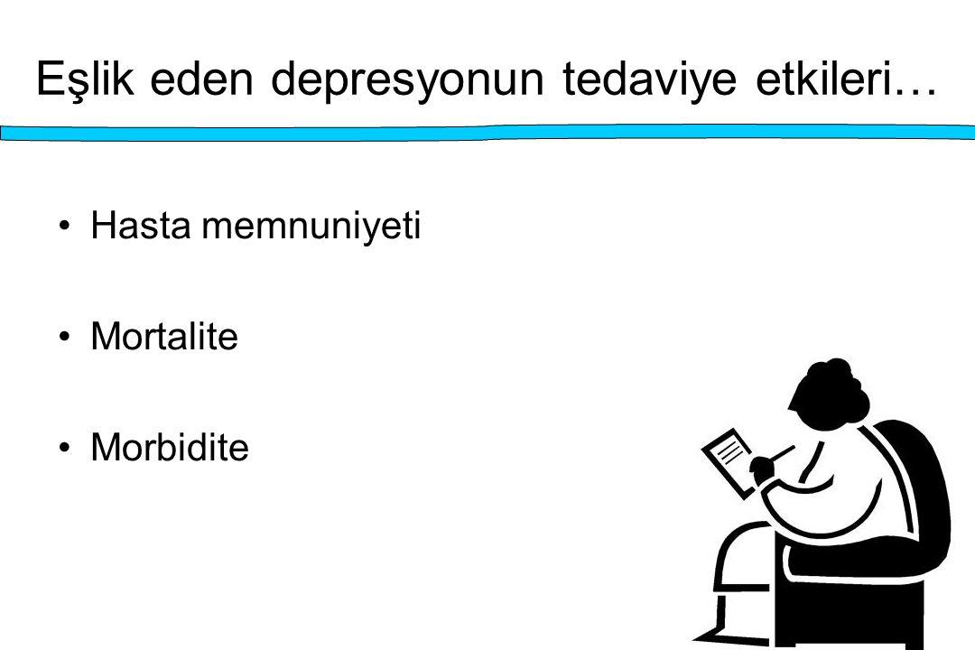 Eşlik eden depresyonun tedaviye etkileri… Hasta memnuniyeti Mortalite Morbidite