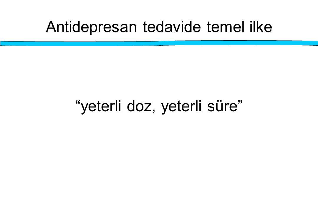 """Antidepresan tedavide temel ilke """"yeterli doz, yeterli süre"""""""