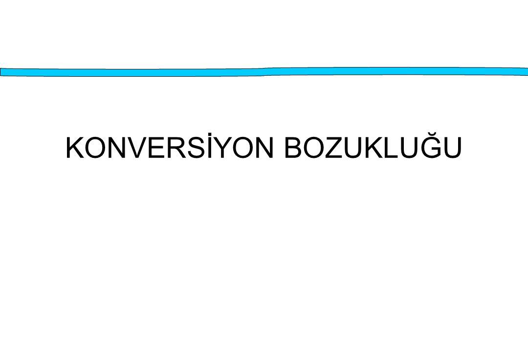 KONVERSİYON BOZUKLUĞU