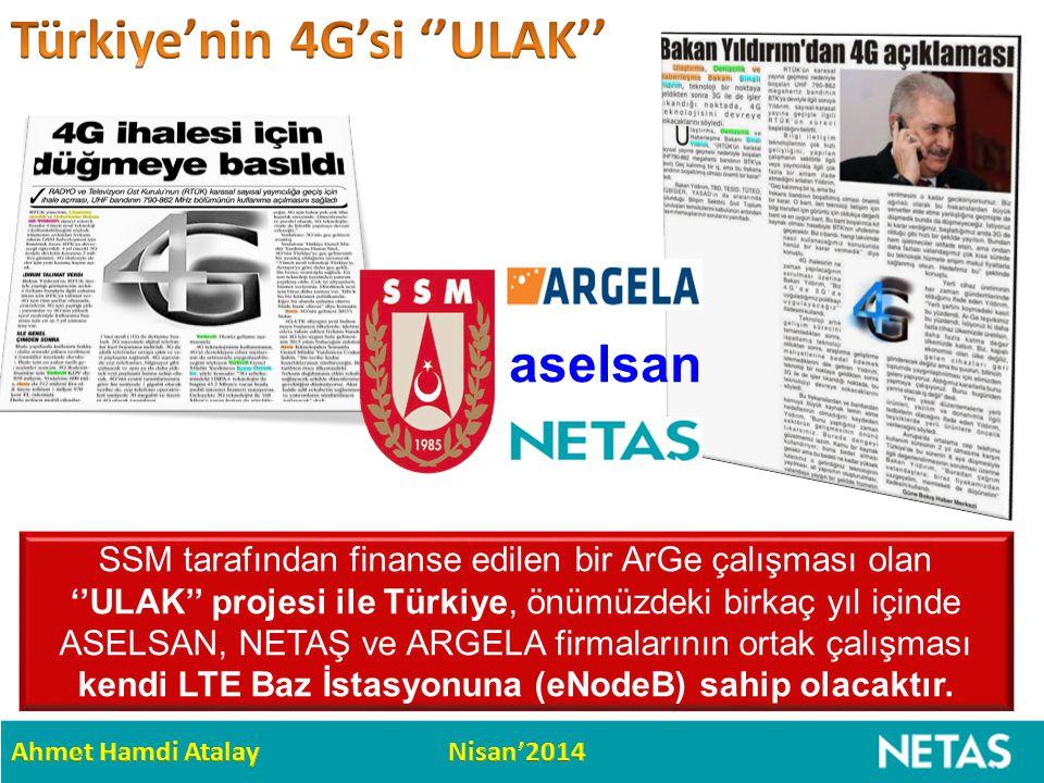SSM tarafından finanse edilen bir ArGe çalışması olan ''ULAK'' projesi ile Türkiye, önümüzdeki birkaç yıl içinde ASELSAN, NETAŞ ve ARGELA firmalarının