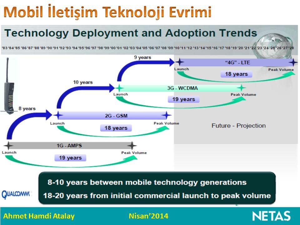CDMA temelli UMTS / 3G sonrasında, OFDM temelli LTE / 4G önümüzdeki 15 yıl pazarda…