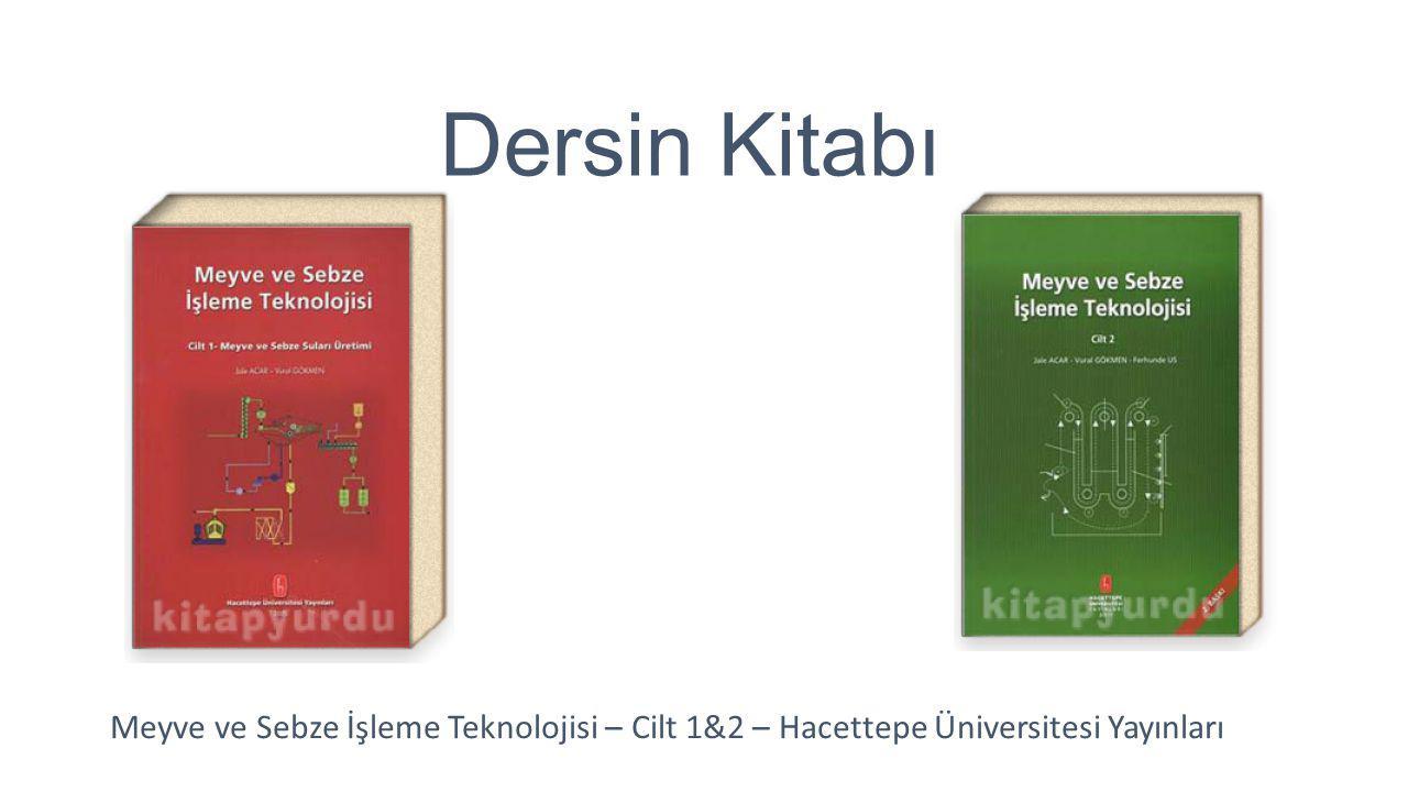 Dersin Kitabı Meyve ve Sebze İşleme Teknolojisi – Cilt 1&2 – Hacettepe Üniversitesi Yayınları
