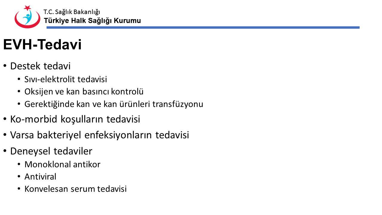 T.C. Sağlık Bakanlığı Türkiye Halk Sağlığı Kurumu T.C. Sağlık Bakanlığı Türkiye Halk Sağlığı Kurumu EVH-Tedavi Destek tedavi Sıvı-elektrolit tedavisi