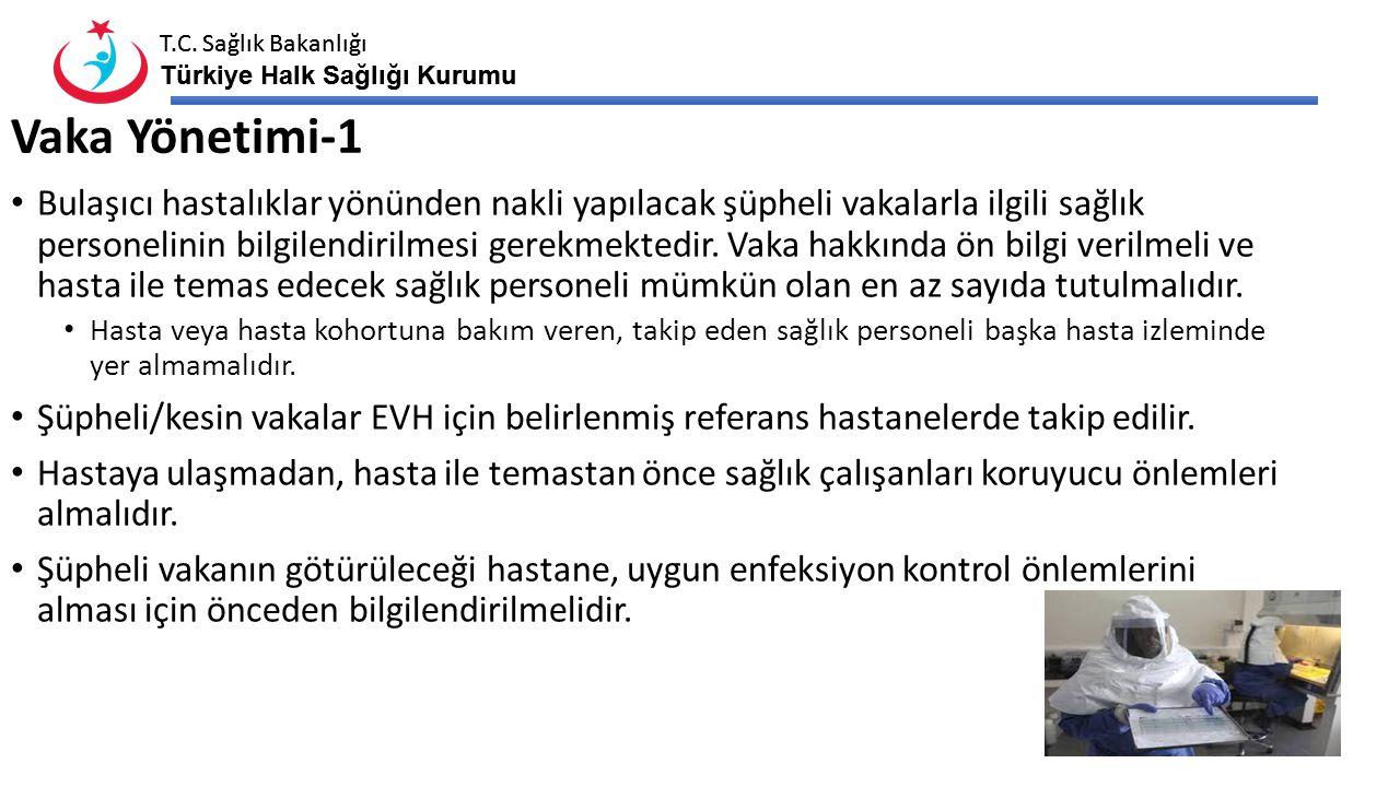 T.C. Sağlık Bakanlığı Türkiye Halk Sağlığı Kurumu T.C. Sağlık Bakanlığı Türkiye Halk Sağlığı Kurumu Vaka Yönetimi-1 Bulaşıcı hastalıklar yönünden nakl