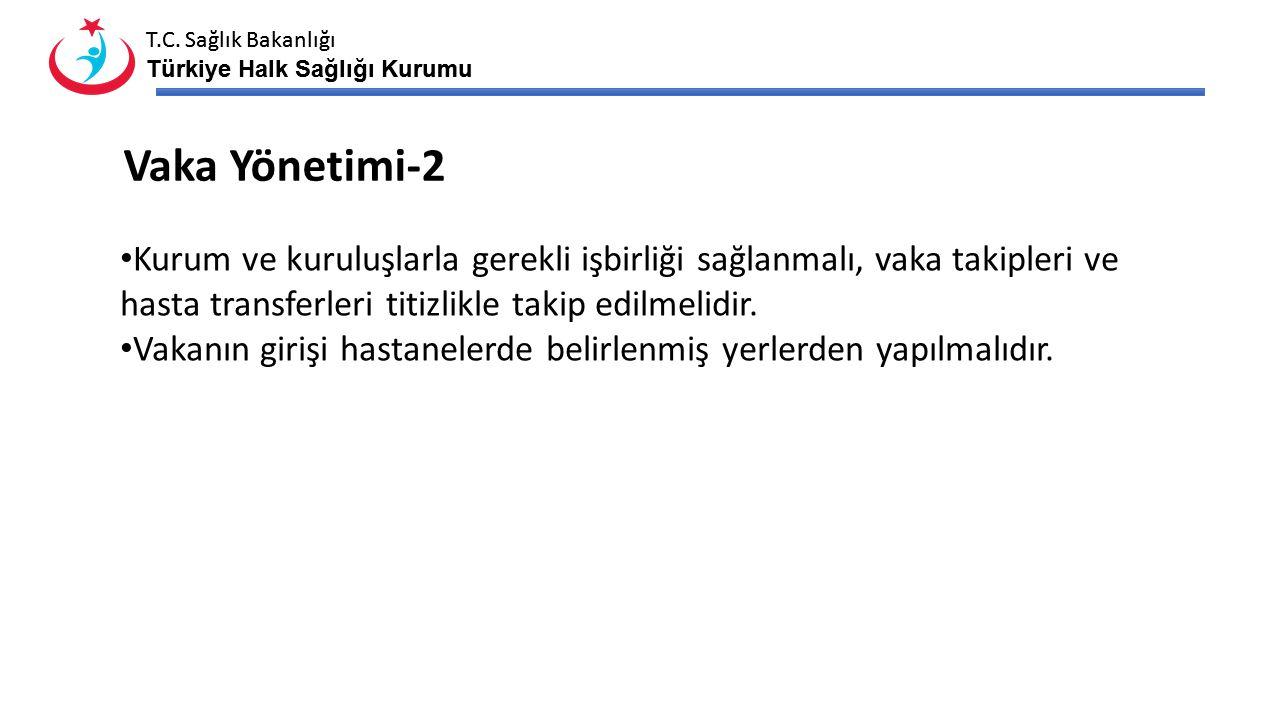 T.C. Sağlık Bakanlığı Türkiye Halk Sağlığı Kurumu T.C. Sağlık Bakanlığı Türkiye Halk Sağlığı Kurumu Kurum ve kuruluşlarla gerekli işbirliği sağlanmalı