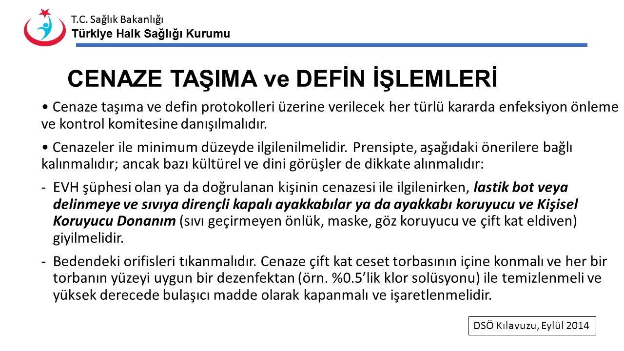 T.C. Sağlık Bakanlığı Türkiye Halk Sağlığı Kurumu T.C. Sağlık Bakanlığı Türkiye Halk Sağlığı Kurumu CENAZE TAŞIMA ve DEFİN İŞLEMLERİ Cenaze taşıma ve