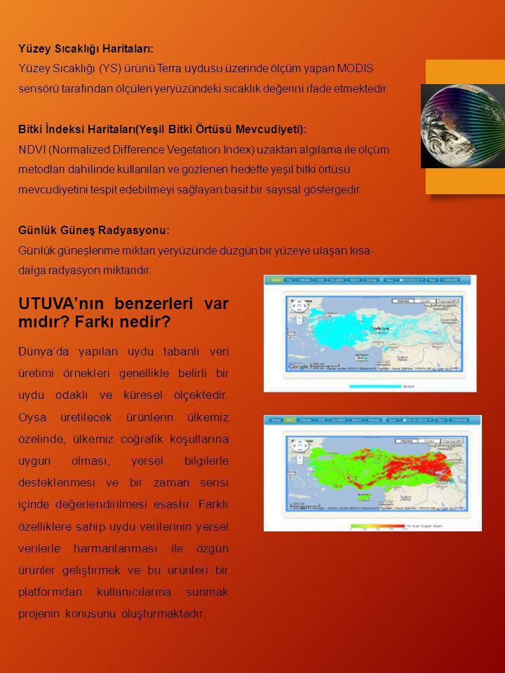 UTUVA'nın benzerleri var mıdır? Farkı nedir? Dünya'da yapılan uydu tabanlı veri üretimi örnekleri genellikle belirli bir uydu odaklı ve küresel ölçekt
