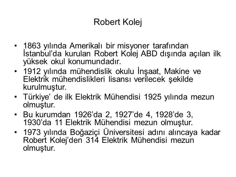 Robert Kolej 1863 yılında Amerikalı bir misyoner tarafından İstanbul'da kurulan Robert Kolej ABD dışında açılan ilk yüksek okul konumundadır. 1912 yıl