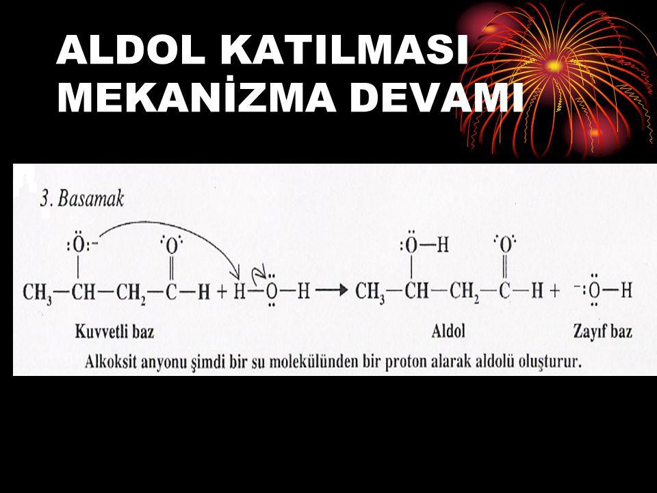 ÇAPRAZ ALDOL TEPKİMELERİ İki farklı karbonil bileşiği ile başlayan aldol tepkimesine ÇAPRAZ ALDOL TEPKİMESİ denir.