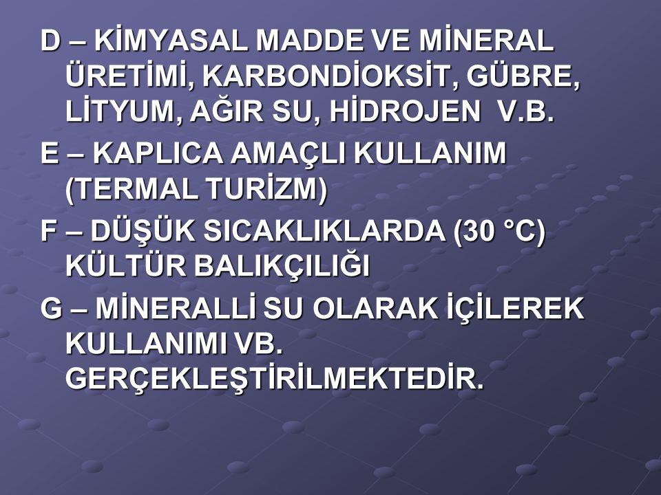 Jeotermal enerji ile merkezi ısıtma alt yapı sistemleri Türkiye koşullarında maliyet bakımından çok büyük rakamlara tekabül etmektedir.