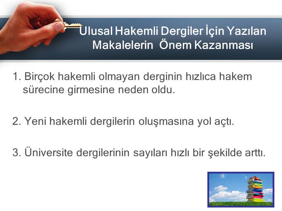 3) Türkiye'de Yayınlanan Akademik Dergilerde Kısıtlı Okuyucuya Ulaşan Çalışmaların Daha Geniş Kitlelere Ulaşımının Sağlanması ASOS INDEKS'İN TEMEL AMAÇLARI
