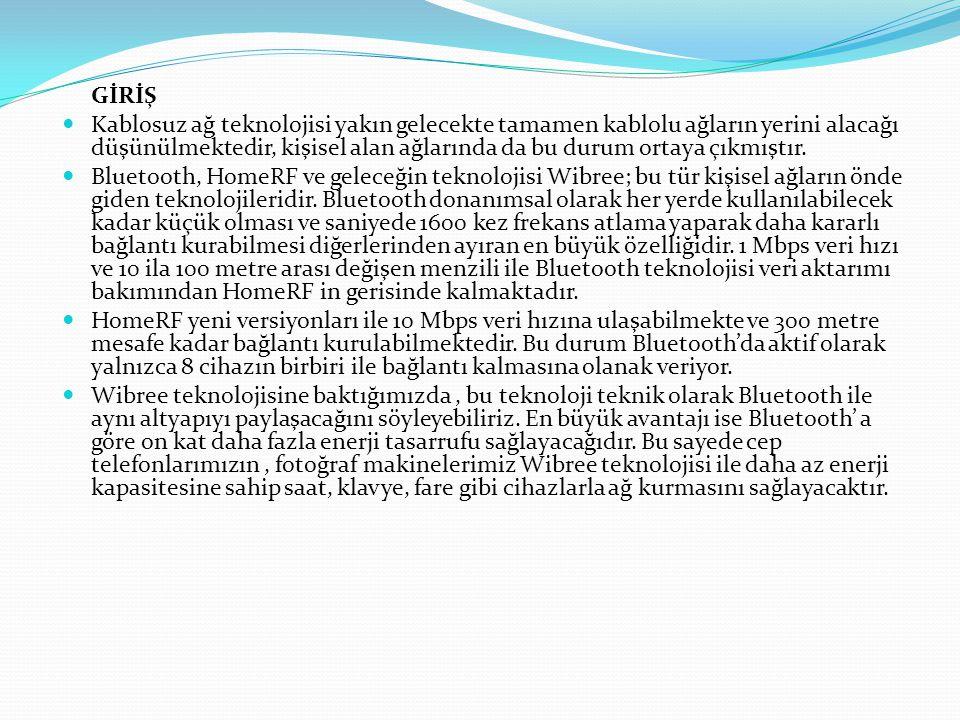 1.KABLOSUZ AĞ ÇEŞİTLERİ 1.1.