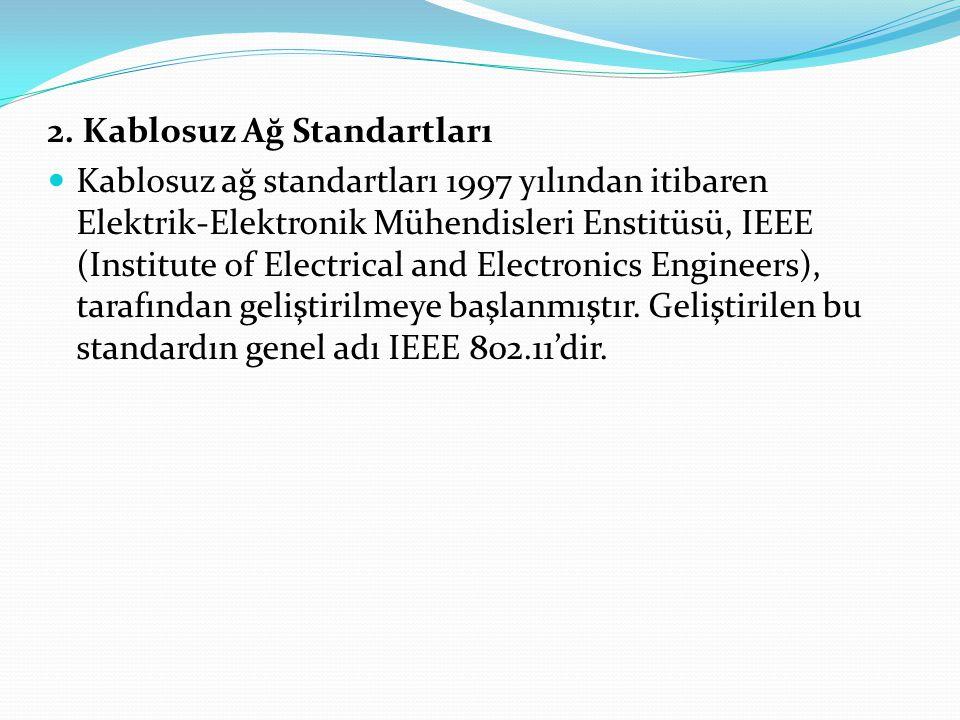 2.1 802.11a 802.11 standardının yetersiz hale gelmesiyle, 1999 yılında ortaya çıkan ilk geliştirilmiş sürümdür.