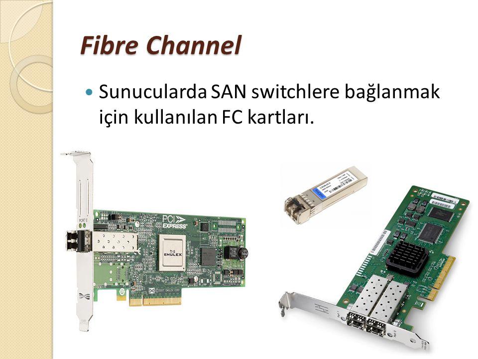 Fibre Channel Sunucularda SAN switchlere bağlanmak için kullanılan FC kartları.