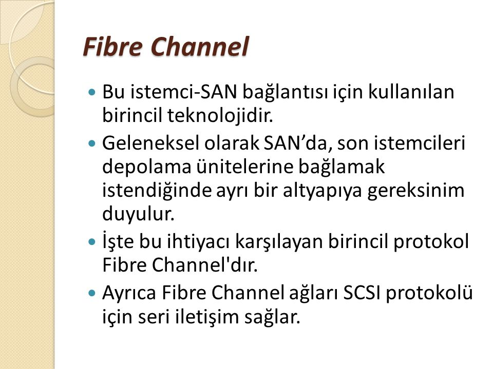 Fibre Channel FC portlu bir SAN switch