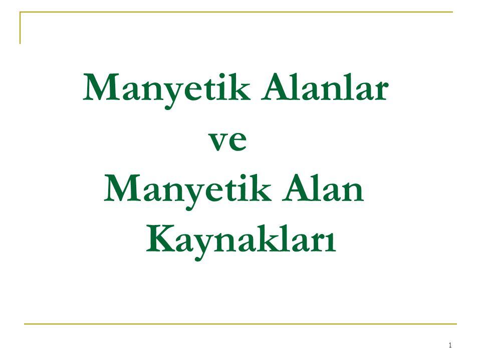 1 Manyetik Alanlar ve Manyetik Alan Kaynakları