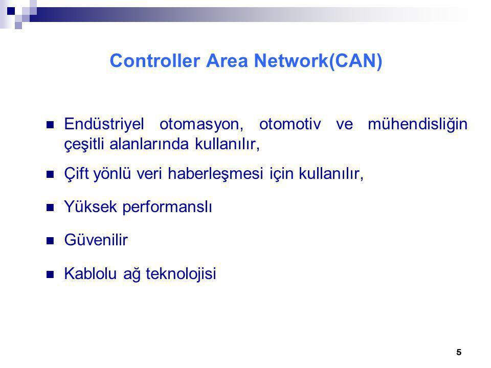 Maximum 1 Mbit/sn'lik bir hızda veri iletişimi sağlayan Kontrol Alan Ağı teknolojisi güvenliğin önemli olduğu gerçek zamanlı medikal uygulamalarda kullanılmaktadır.