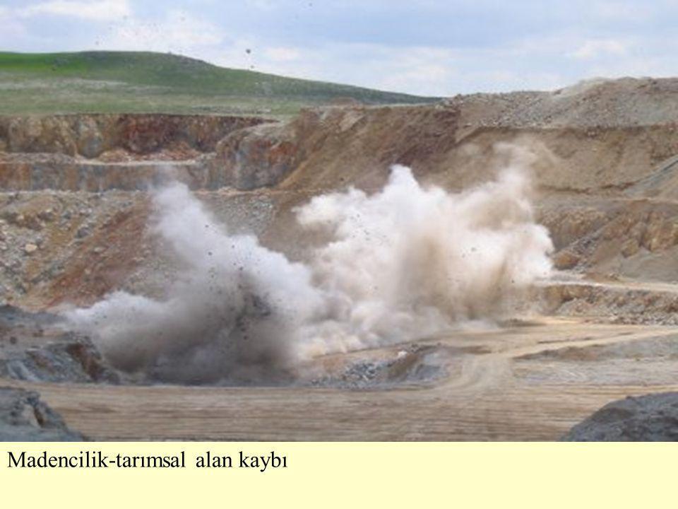 Madencilik-tarımsal alan kaybı
