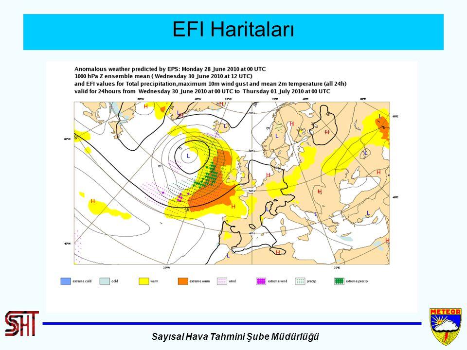 Sayısal Hava Tahmini Şube Müdürlüğü EFI Haritaları