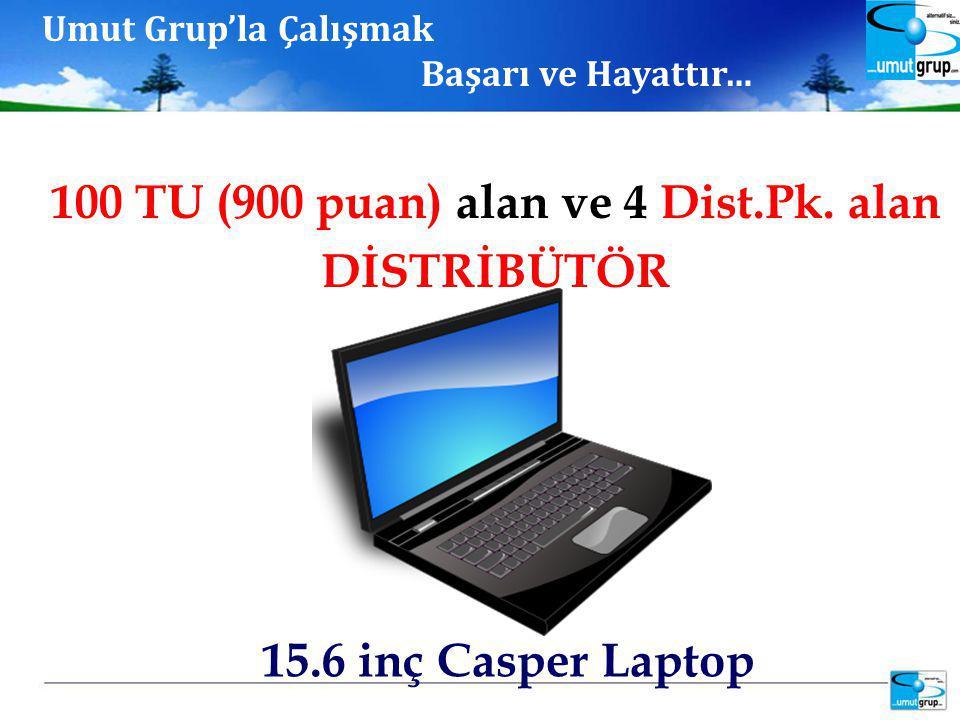 15.6 inç Casper Laptop 100 TU (900 puan) alan ve 4 Dist.Pk.