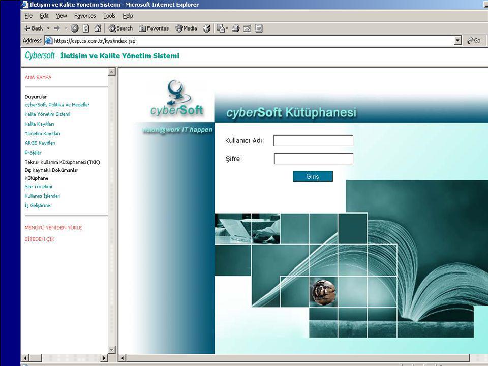 IMPROQ 2004 Bilgi Yönetimi (KM) kalite yönetim sistemi dokümantasyonu tekrar kullanım kütüphanesi dış standartlar kütüphane yönetim sistemi