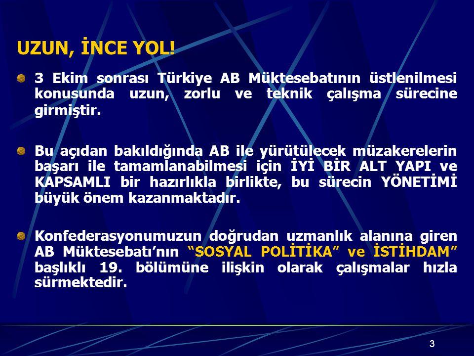 14 İŞ HUKUKU 14 Konsey Direktifiyle mevzuat yakınlaşması vardır.