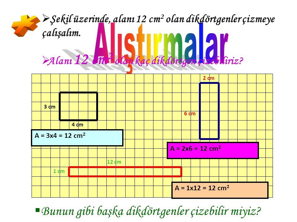KK aresel bölgenin alanı; iki kenar uzunluğunun çarpımına eşittir. A(FSEC) = a x a = a 2 BB ir kenarı yükseklik olarak düşünürsek; Karesel bölgeni