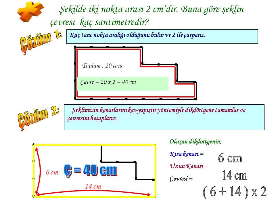  Ş Ş ekil üzerinde, alanı 12 cm 2 olan dikdörtgenler çizmeye çalışalım. AA lanı 12 cm 2 olan kaç dikdörtgen çizebiliriz? 3 cm 4 cm A = 3x4 = 12 cm
