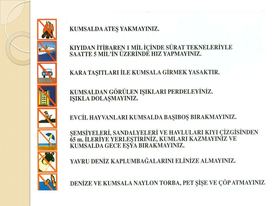 KUMSALDA ATEŞ YAKMAYINIZ.DO NOT BUILD FIRE ON THE BEACH.