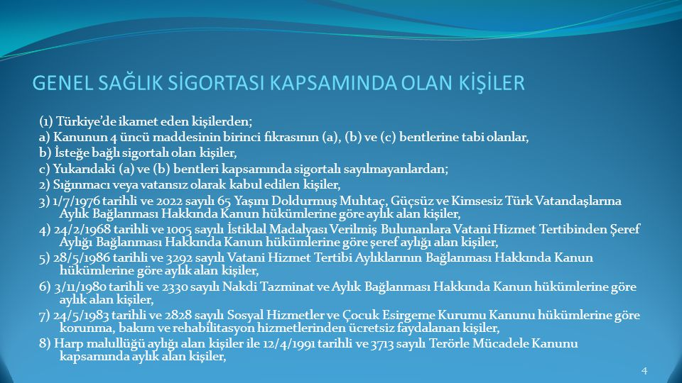 SAĞLIK HİZMETİ SUNUCULARININ BASAMAKLANDIRILMASI/SINIFLANDIRILMASI 5