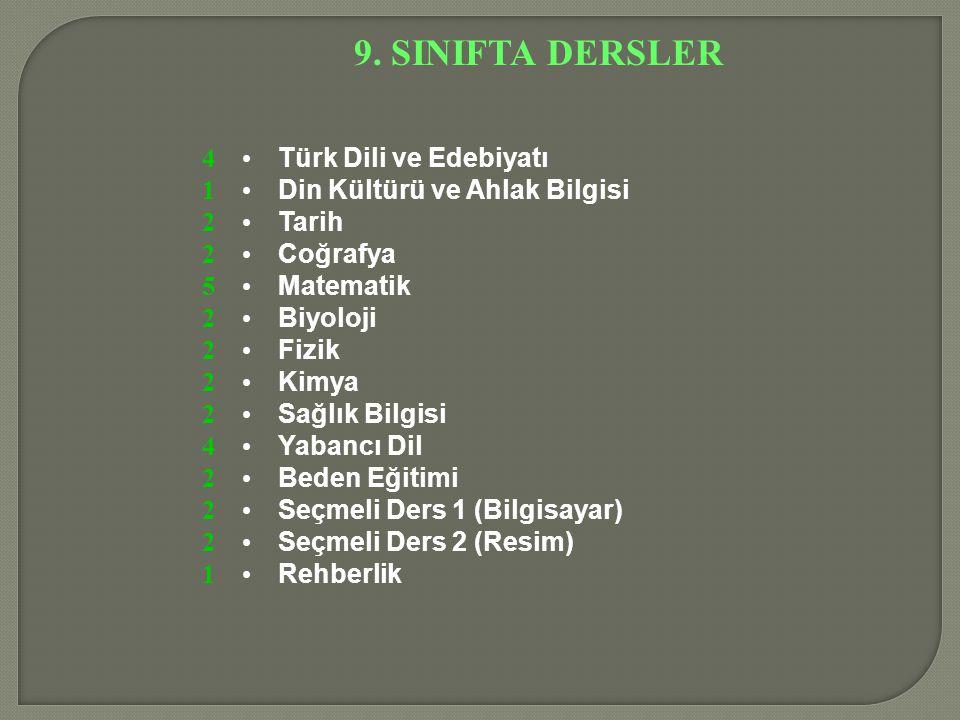 ALANLARA YÖNELME ÖRNEK 1.DERS ADI 1.D.2.D. YS. Notu 1 Türk Dili ve Edb.