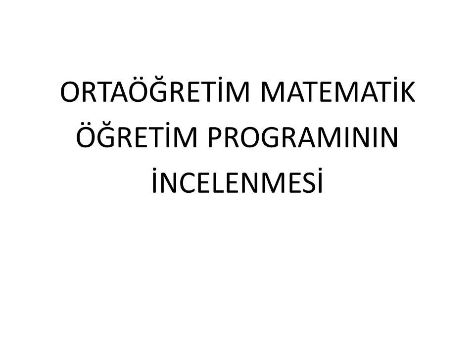 PROGRAMIN VİZYONU Matematik programı, Her çocuk matematiği öğrenebilir. ilkesine dayanmaktadır.