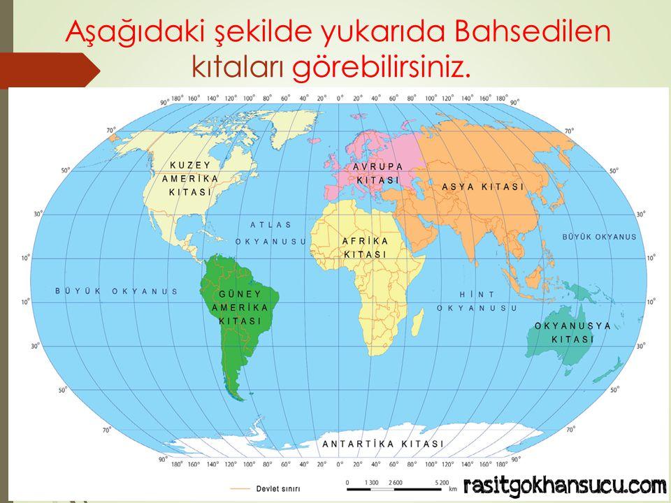 Aşağıdaki şekilde yukarıda Bahsedilen kıtaları görebilirsiniz.