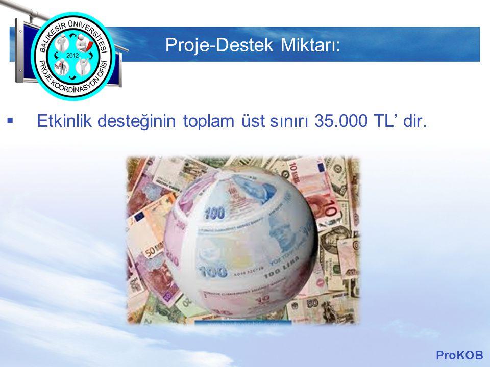 LOGO Başvuru Tarihleri: ProKOB BAŞVURU DÖNEMİ BAŞVURU TARİHLERİ  1.