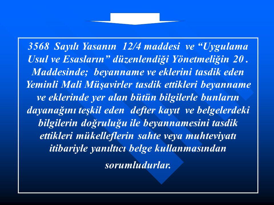 3568 Sayılı Yasanın 12/4 maddesi ve Uygulama Usul ve Esasların düzenlendiği Yönetmeliğin 20.