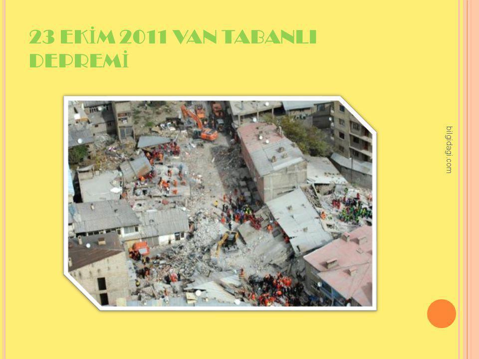 23 EK İ M 2011 VAN TABANLI DEPREM İ bilgidagi.com