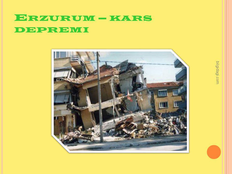 E RZURUM – KARS DEPREMI bilgidagi.com