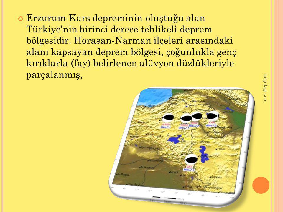 Erzurum-Kars depreminin oluştuğu alan Türkiye'nin birinci derece tehlikeli deprem bölgesidir. Horasan-Narman ilçeleri arasındaki alanı kapsayan deprem