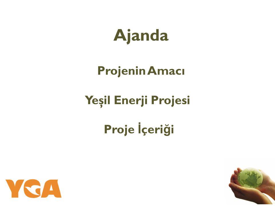 Ajanda Projenin Amacı Yeşil Enerji Projesi Proje İ çeri ğ i