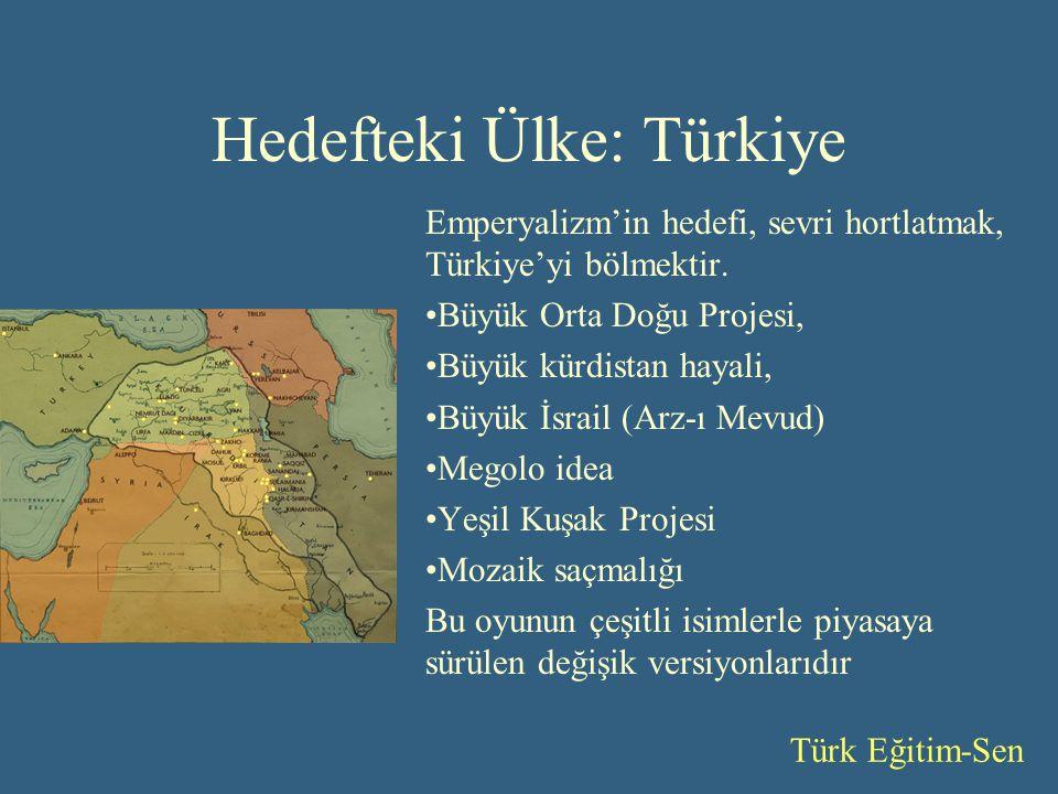 Hedefteki Ülke: Türkiye Emperyalizm'in hedefi, sevri hortlatmak, Türkiye'yi bölmektir.