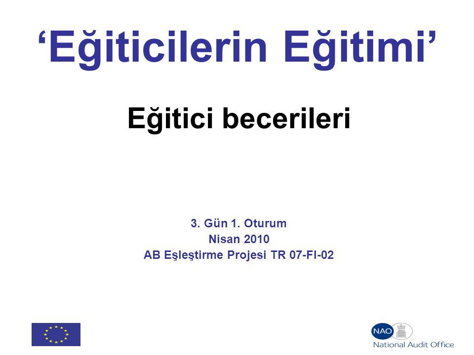 'Eğiticilerin Eğitimi' Eğitici becerileri 3. Gün 1.
