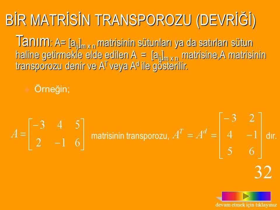 ÇARPMA İŞLEMİNE GÖRE TERS MATRİSLERİN ÖZELLİKLERİ 1. k  R-  0  olmak üzere, n.sıradan bir A kare matrisinin çarpma işlemine göre tersi varsa (k.A)=