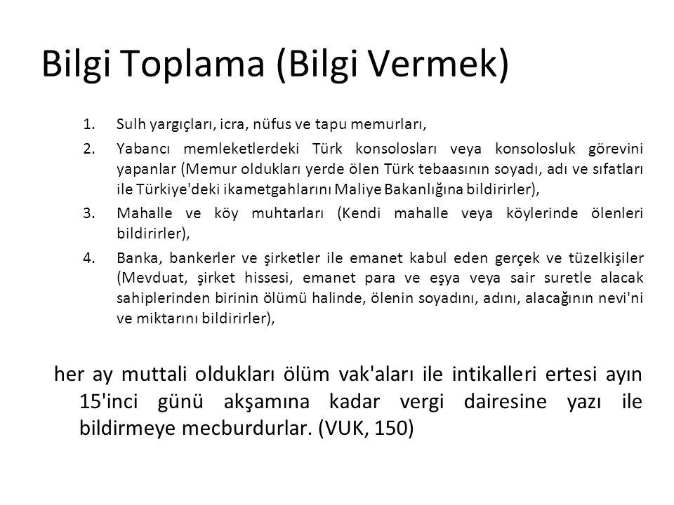 1.Sulh yargıçları, icra, nüfus ve tapu memurları, 2.Yabancı memleketlerdeki Türk konsolosları veya konsolosluk görevini yapanlar (Memur oldukları yerd