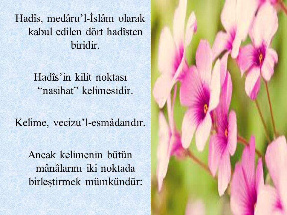 Beyhaki'ye göre Müslümanlara karşı samimiyet içinde olmanın alâmeti üçtür: 1.Kalbin, Müslümanların elem ve kederlerinden dolayı hüzün duyması 2.