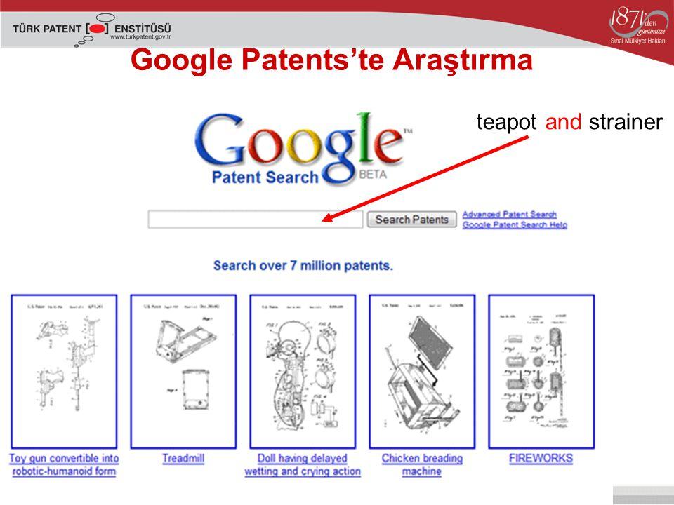 Google Patents'te Araştırma teapot and strainer