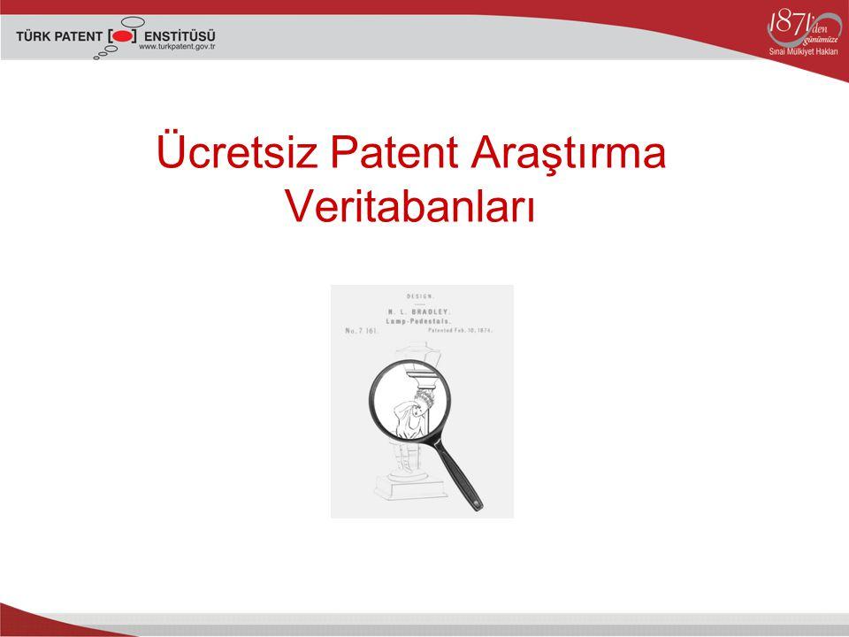 Ücretsiz Patent Araştırma Veritabanları