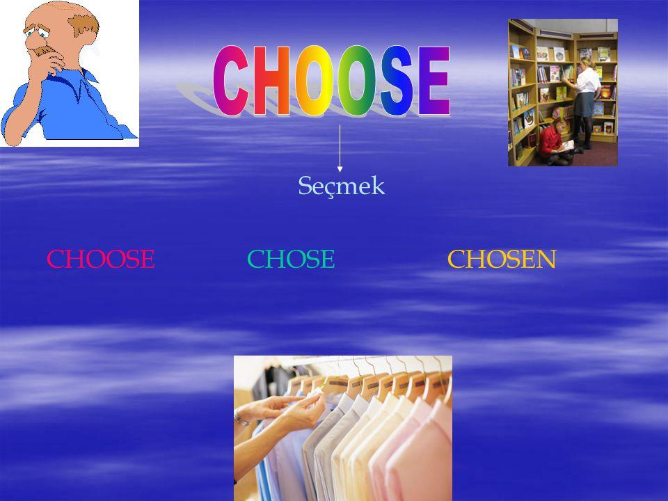 Seçmek CHOOSECHOSECHOSEN