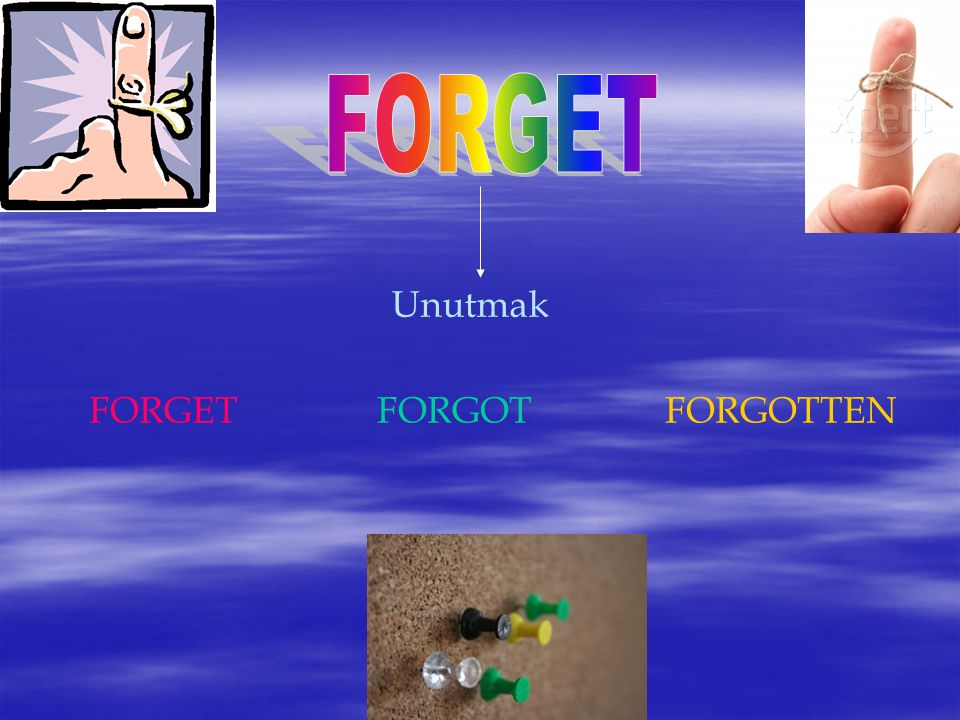 Unutmak FORGETFORGOTFORGOTTEN