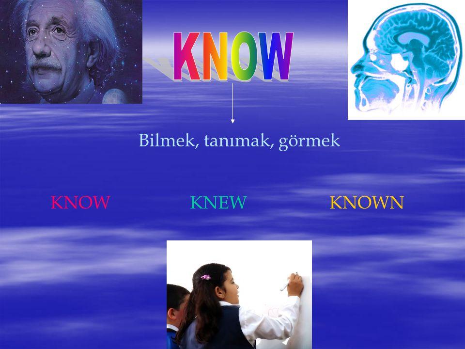 Bilmek, tanımak, görmek KNOWKNEWKNOWN