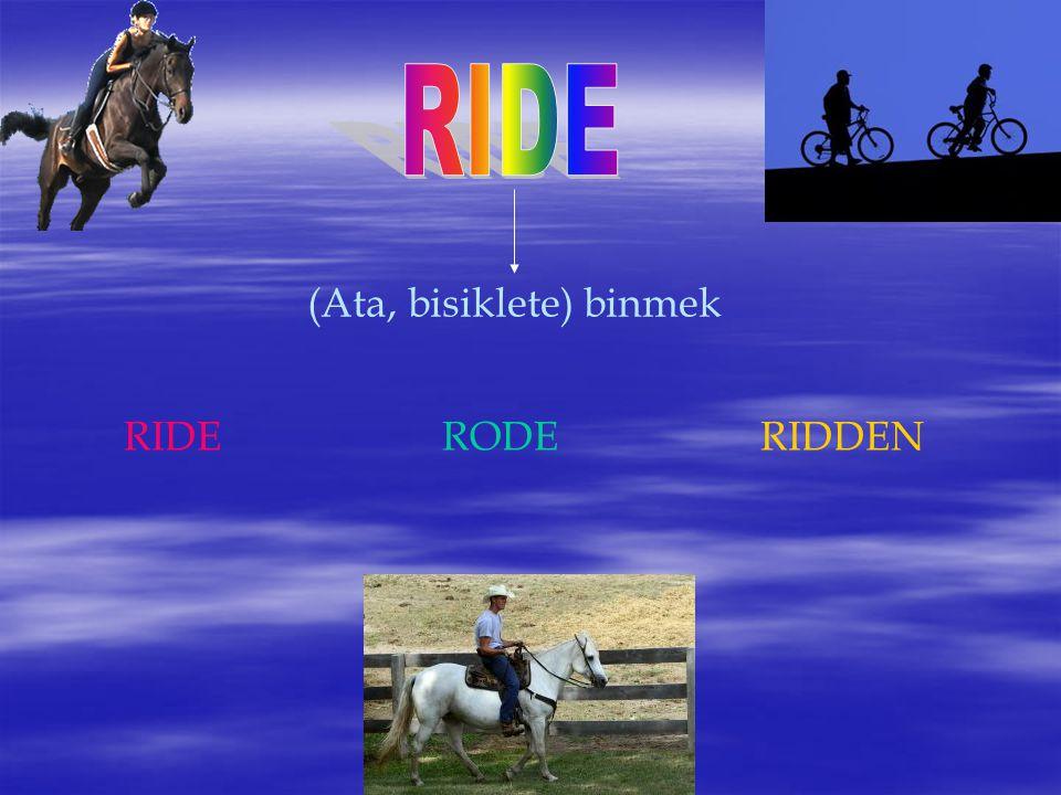 (Ata, bisiklete) binmek RIDERODERIDDEN